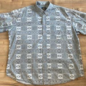 Woolrich Western Aztec Print Button Down Shirt XL